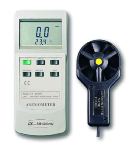 Lutron AM4203HA MultiFunction Anemometer RS232 Air Velocity Temperature