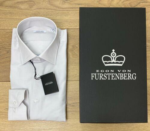 Grigio perla con scatola SALDI Camicia Uomo Egon Von Furstenberg Basic Cotone