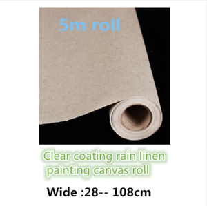 Primed-Canvas-Roll-Oil-Painting-Blank-Linen-5m-300g-High-Quality-Artist-Supplies