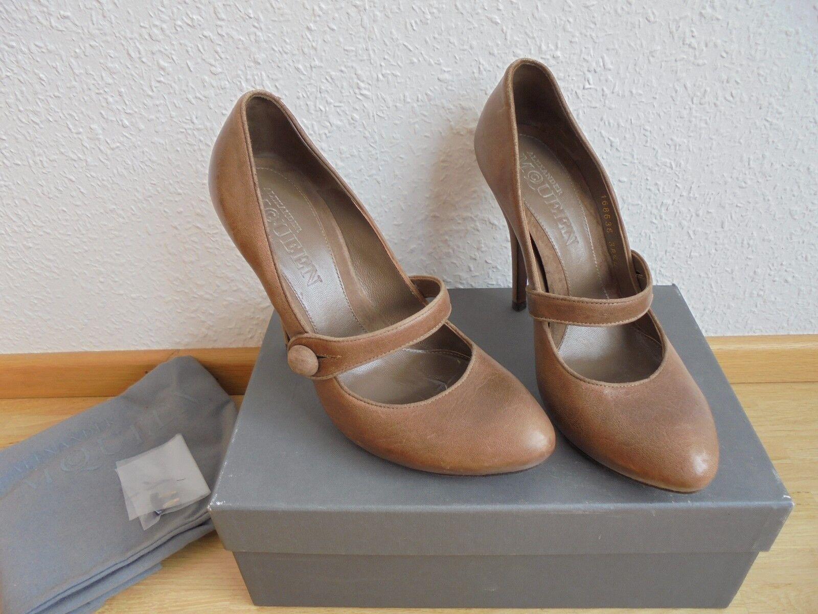 Alexander McQueen Leder High Heels NP Pumps  + OVP Schuhe Pumps NP 38 38,5 39 c1c694