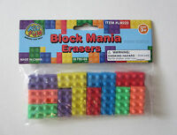 18 Pc Building Block Brick Erasers Kid Party Goody Loot Bag Filler Favor Supply