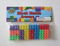 18 Pc Building Block Brick Erasers Kid Party Goody Loot Bag Filler Favor Supply