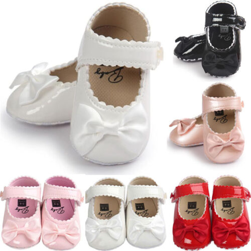 Newborn Baby Girl Antislip Leather Crib Shoes Sneakers Soft Sole Moccasins AU
