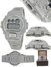 Mens New G-Shock/G Shock White Simulated Diamond Watch Joe Rodeo Jojino Kc 10 Ct