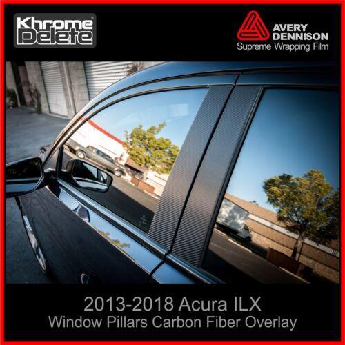 2013-2018 Acura ILX Window Pillar Carbon Fiber Overlay