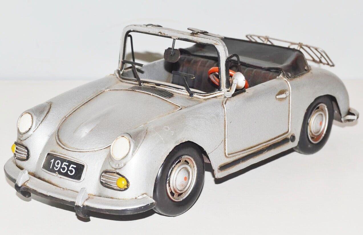 Modellino Auto Porsche Speedster Nostalgia Modello di Latta,Metallo 31 cm,Nuovo