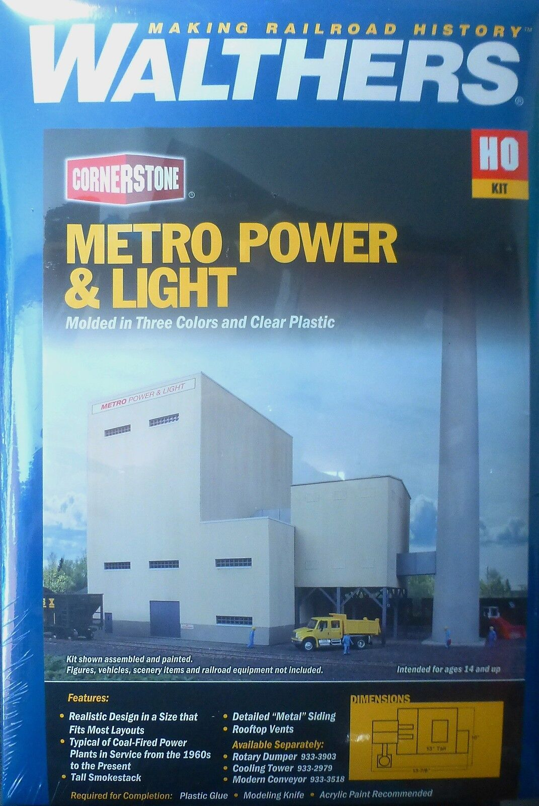 Para tu estilo de juego a los precios más baratos. Walthers Ho   933-4052 Metro Power & Light Light Light (Kit de construcción) De Plástico  nuevo estilo