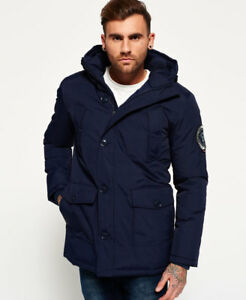 New Mens Superdry Everest Parka Jacket Navy
