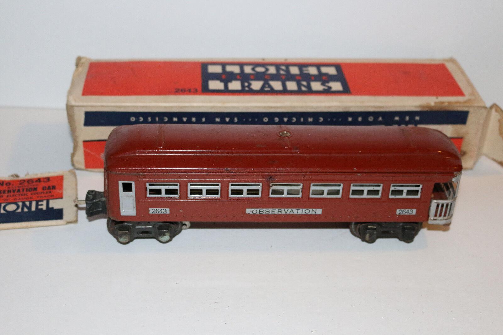 Pre-guerra Lionel 3 Pieza Conjunto De Coche de pasajeros cajas con o escala