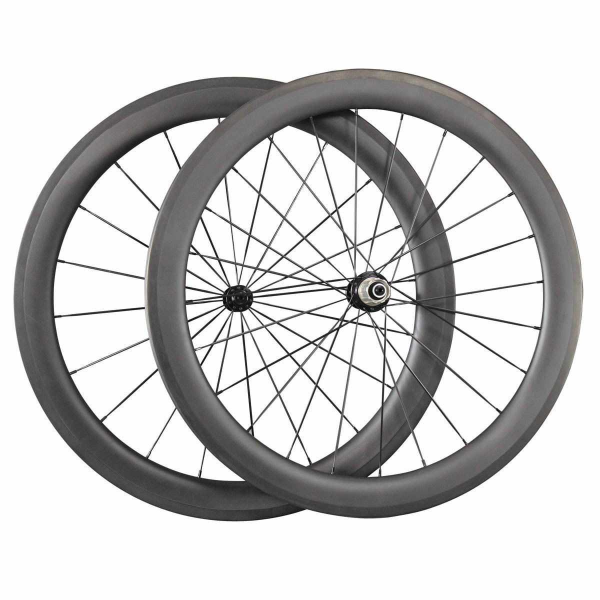 Carbon Road Bike Wheels 60mm Depth Clincher 23mm width Wheelset 1420 Aero Spokes