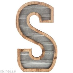 large metal letters large wood galvanized metal letter s 14 quot h ebay 22690 | s l300