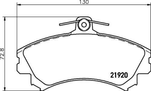 GENUINE BRAND NEW 5 YEAR WARRANTY Mintex Front Brake Pad Set MDB1727