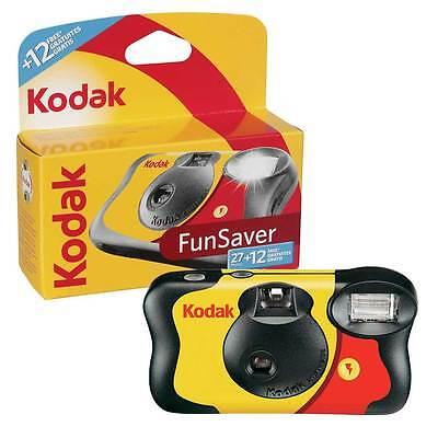 Kodak Fun Saver Disposable Single Use Camera with Flash 39 Pictures / Exposures
