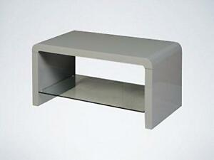 Image Is Loading Atlanta Grey Coffee Table With Gl Shelf Modern
