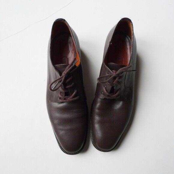 Entrenador De marróns Cuero Cuero Cuero Con Cordones Zapatos. Talla 8  alta calidad