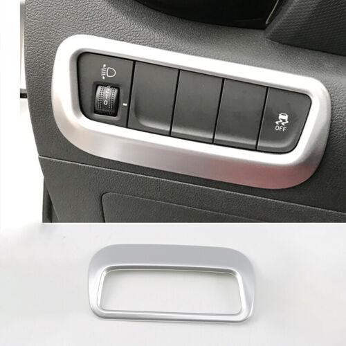 FOR Hyundai KONA encino 2018-2019 Silver headlight adjustment frame cover trim