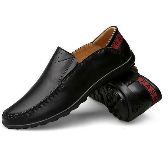 Fashion Leather Men's shoes Casual Holes Loafer Driving Moccasins shoes slip on