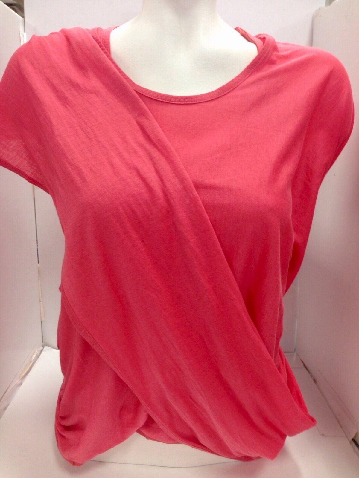 Chloe Top Coral Cotton And Silk Double Layer Größe Xs