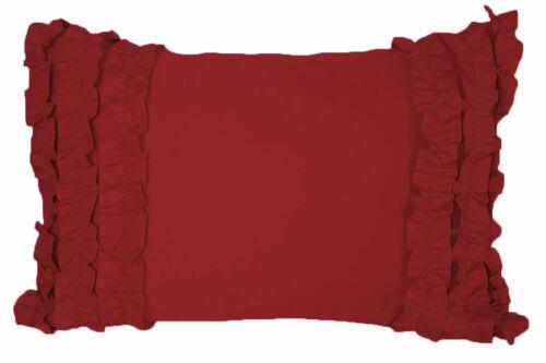 2pc Half Tuxedo Ruffle Pillow Sham 100/% Egyptian Cotton 800TC All Size /& Color