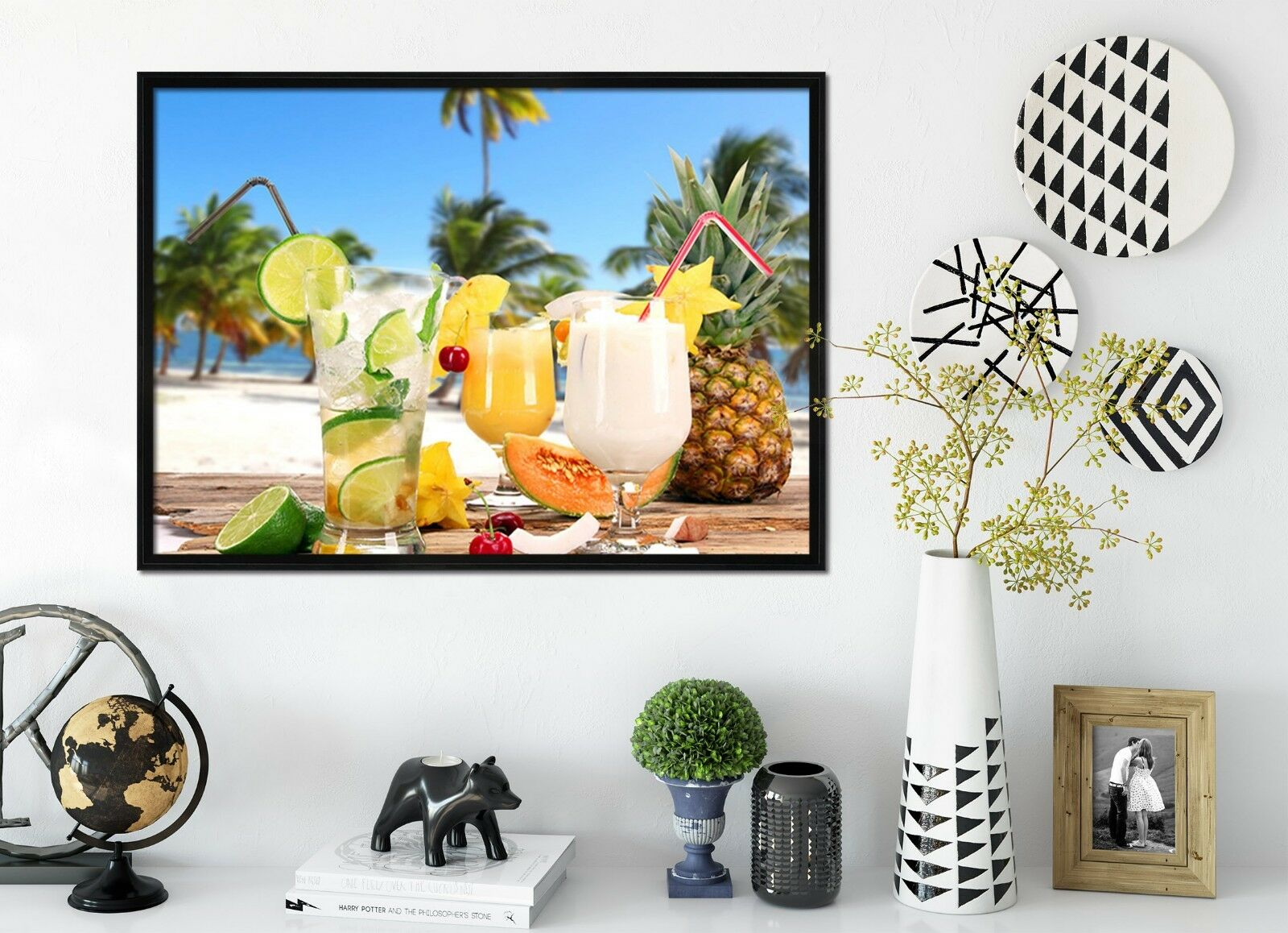 3D Drink Beach 66 Fake Framed Poster Home Decor Print Painting Unique Art Summer