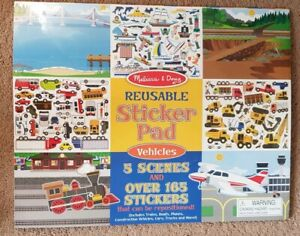 Details About Melissa And Doug Reusable Sticker Pad Vehicles 165 Reusable Stickers