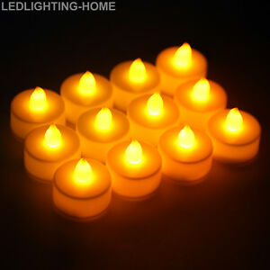 New-12-x-LED-Tea-Lights-Battery-Operated-Flameless-Candles-Tealight-Decor-Lights