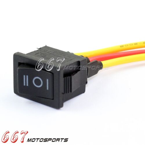 Universal 3 Wire ON-OFF-ON Type Momentary Boat Rocker Switch AC 125V//15A Black