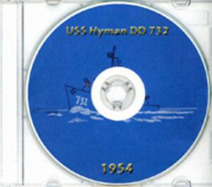 USS-Hyman-DD-732-1954-CRUISE-BOOK-Log-CD