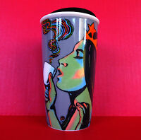Starbucks Art Psychedelic Siren Mermaid Tumbler Travel Mug Milton Glaser 25th
