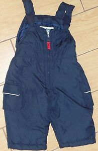 4ea4bed5f baby boy or girl OSH KOSH dark blue SNOW PANTS SKI BIBS size 12 ...