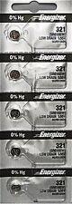 ENERGIZER 321 SR616SW SR616 SILVER OXIDE (5piece) Watch Battery AuthorizedSeller
