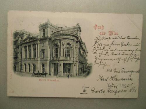 Ansichtskarte Wien Hotel Ronacher 1897