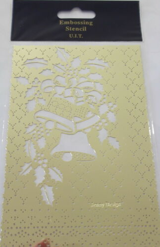 etc Card making Jingle Bells Brass Pricking /& Embossing Stencil