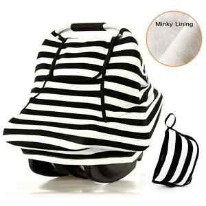 Stretchy Baby Car Seat Covers For Boys Girls,Winter Infant Car Canopy,Snug Warm.
