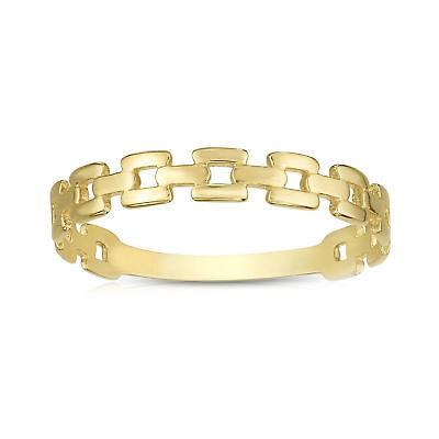 Größe 7 Driving A Roaring Trade Fine Rings Have An Inquiring Mind 14k Gelbgold Quadrat Links Ehering
