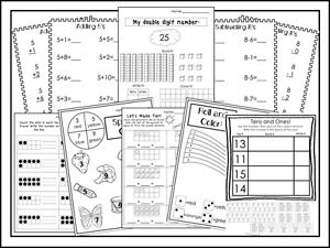 First Grade Math P 300 Printed Double Digit Addition and Subtraction Worksheets