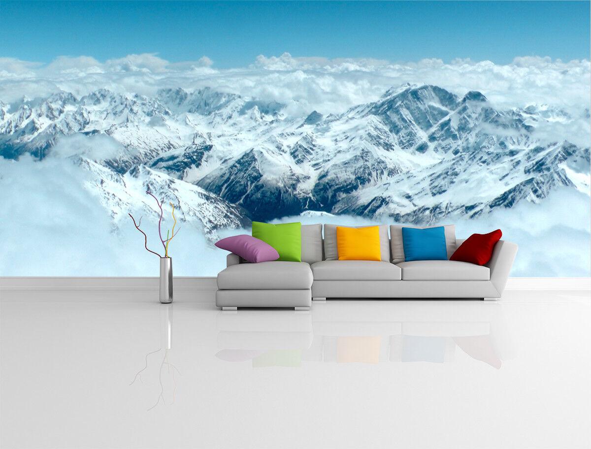 3D Snow Hills Cloud 7 Wall Paper Murals Wall Print Wall Wallpaper Mural AU Kyra