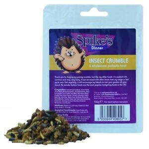 Spikes-Treat-Insect-Crumble-Hedgehog-Snack-Mealworm-Probiotic-Food-100g-x-6