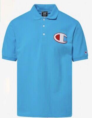 NWT Mens CHAMPION Pique Chenille Logo Polo Shirt LA Lakers Colors Size L XL