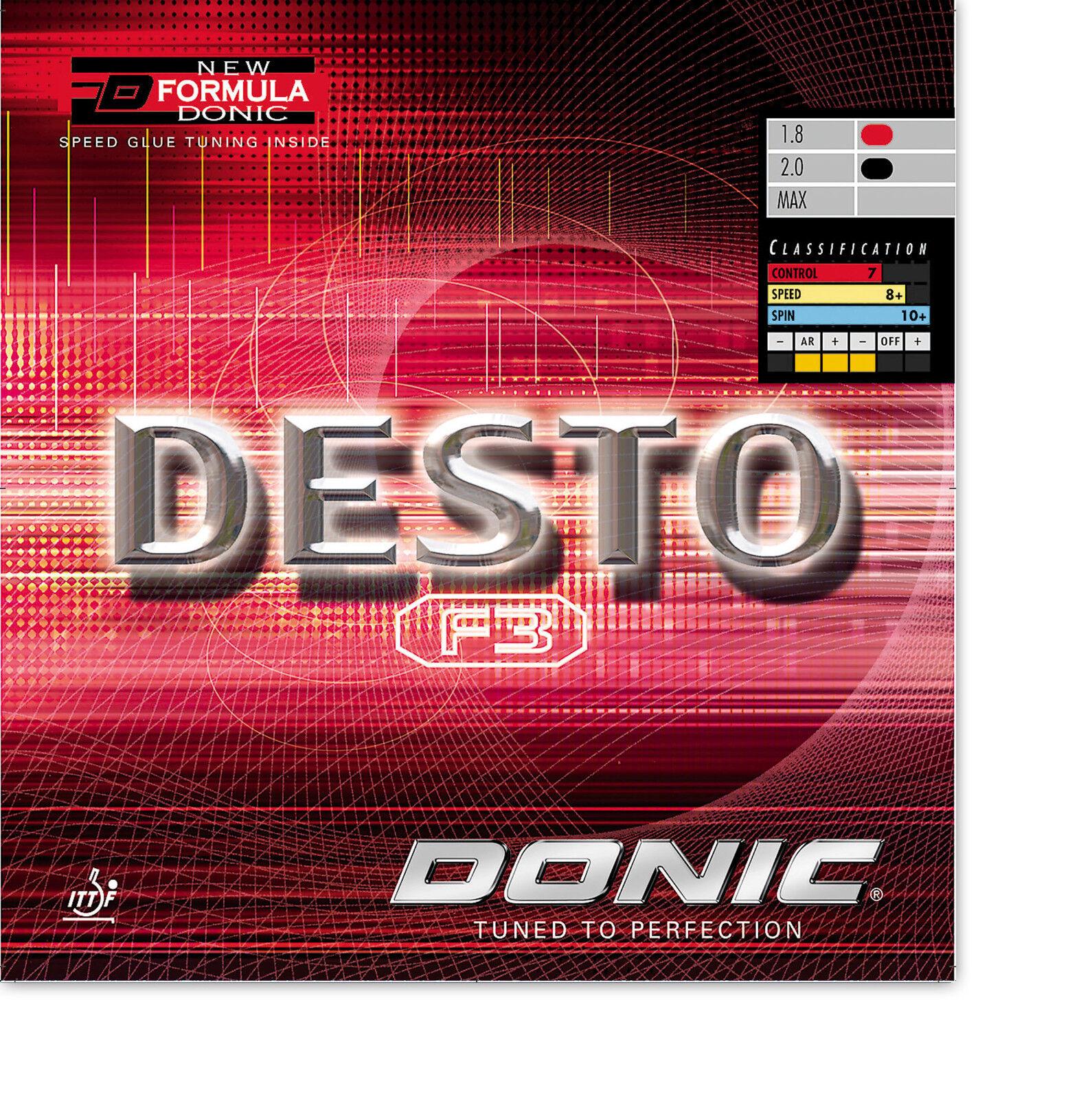 DONIC Desto F3 1,8mm 1,8mm 1,8mm schwarz  NEU   OVP e17f98