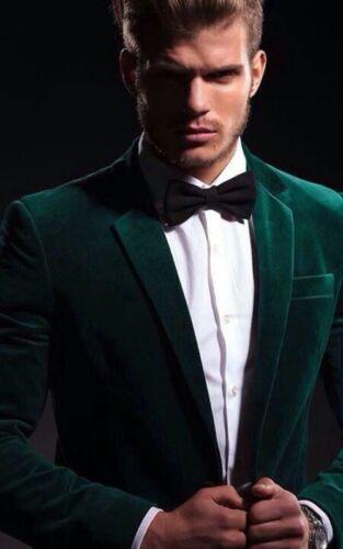 Velvet Dark Green Jacket Coat Men/'s Suit Slim Fit 40r 42r 44r 46r 46 48 Custom