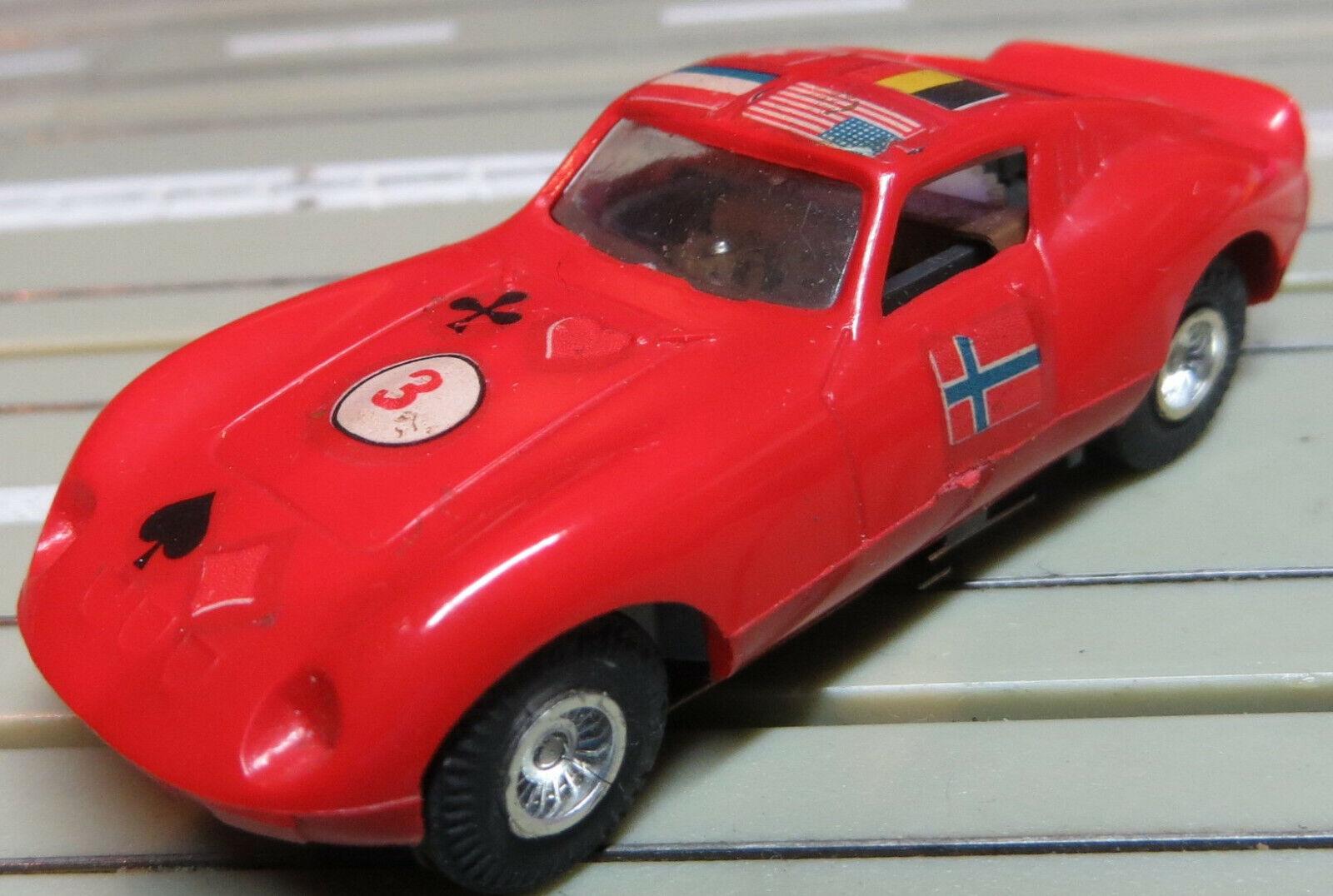 Faller AMS --  Ferrari GT mit Flachankermotor + 4 neue Repro Reifen
