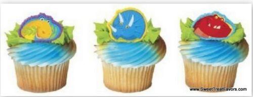 DINOSAUR Jurassic CupCake Cake Topper 12 18 24 Favor Decoration Birthday Favors
