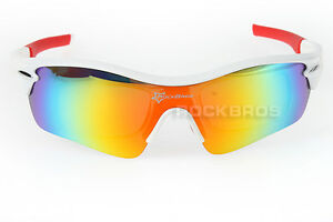 Rockbros-White-Red-Polarized-Cycling-Sports-Glasses-Sunglasses-Goggles-New