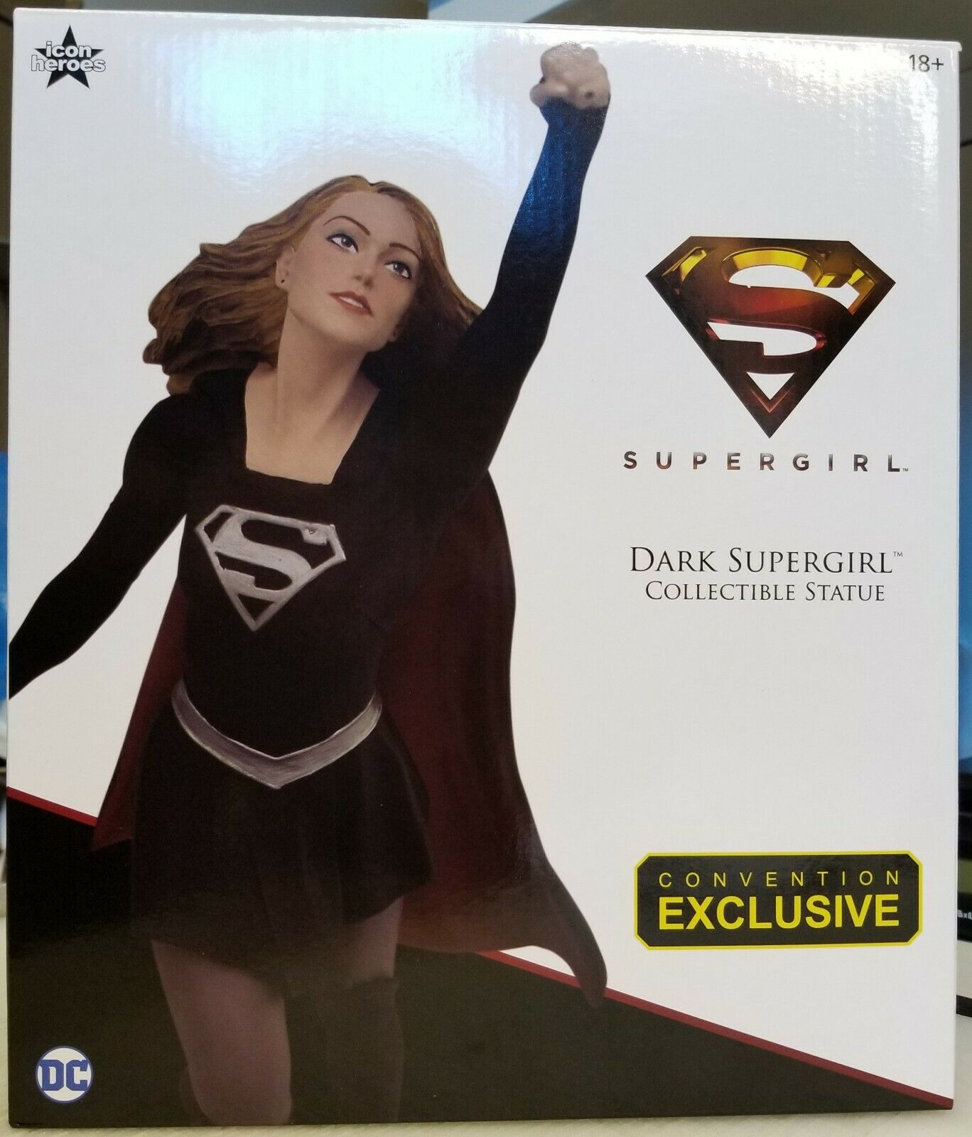 2019 SDCC Convention Exclusive Icon Heroes Dark Supergirl Polystone Resin Statue
