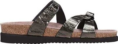 MEPHISTO Leather Double Strap Slide Sandals Hannel Brown Etna Women/'s 42 US 12