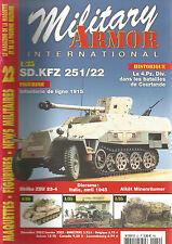 MILITARY ARMOR N°22 SD.KFZ 251/22 / INFANTERIE DE LIGNE / SHILKA ZSU 23-4