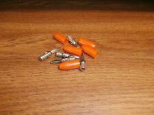 Lot//5 Vintage HH Smith 455 White Solderless Banana Male Plug,15 Amps 1 KV.NOS