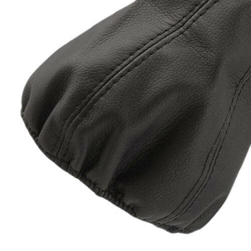 Black Universal Leather Gear Shift Stick Gaiter Boot Dust Proof Cover For Car UP