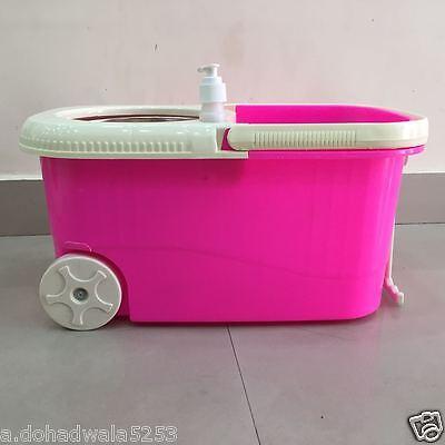 Easy mop 360 Degree Spin Magic with steel bucket, steel pole,SOAP DISPENSER